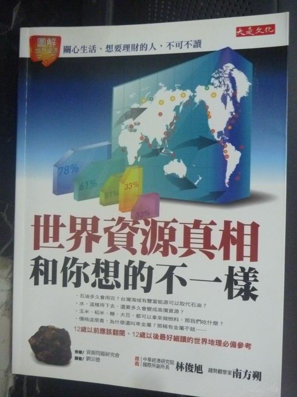 ~書寶 書T2/投資_ZDP~世界資源真相和你想的不一樣:關心 _劉宗德