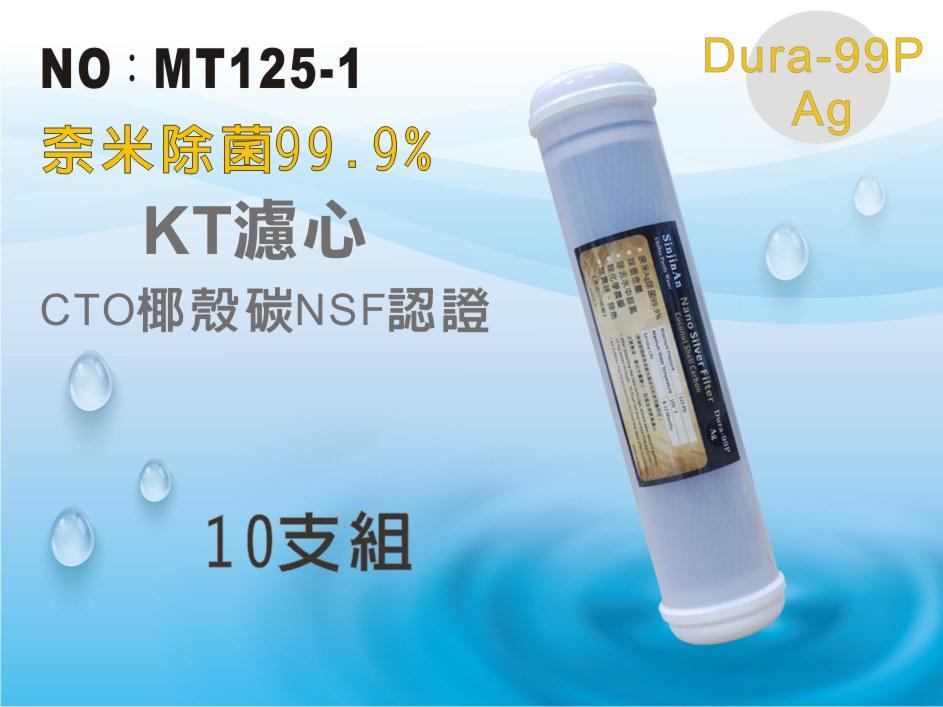 【龍門淨水】KT 奈米除菌99.9%濾心 10支 後置濾心 淨水器 飲水機(MT125-1)
