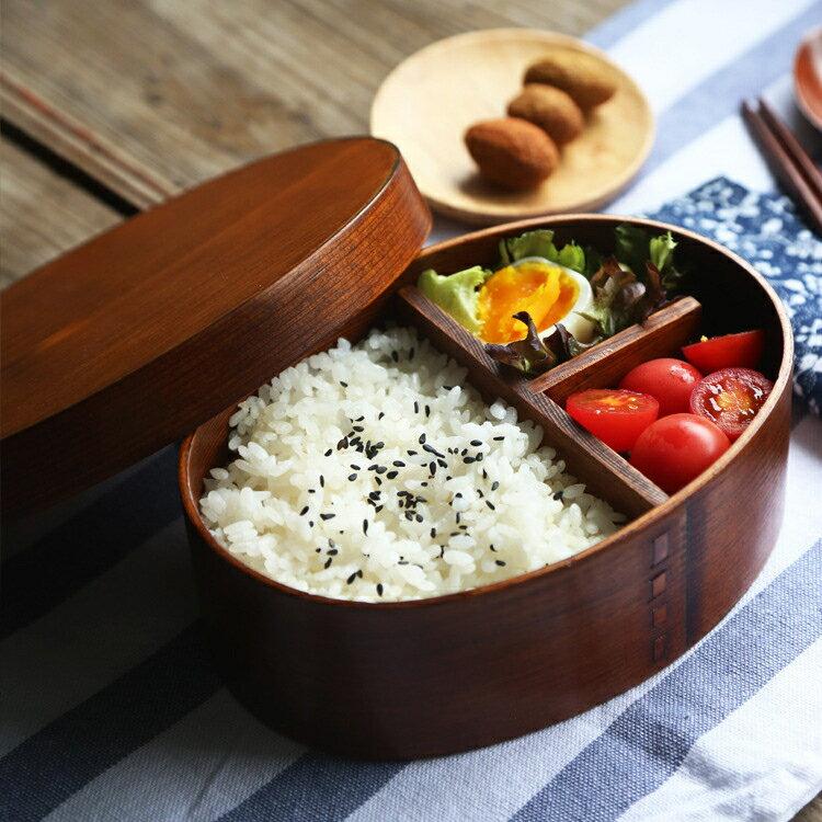 日式 木質便當盒 單層水曲柳便當盒壽司盒 木制飯盒 木餐具 概念3C