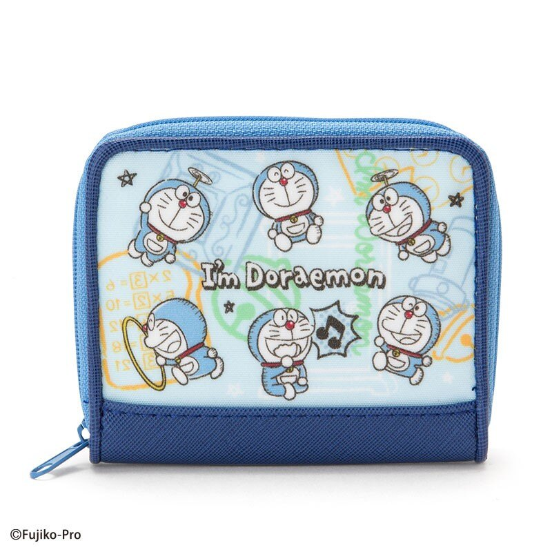 X射線【C019399】哆啦A夢Doraemon 零錢包-LOGO,美妝小物包/筆袋/面紙包/化妝包/零錢包/收納包/皮夾/手機袋/鑰匙包