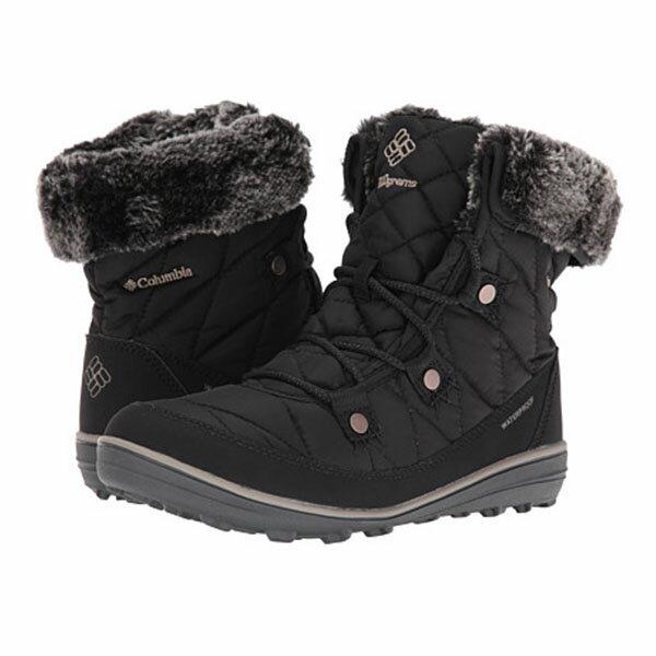《台南悠活運動家》COLUMBIA UBL27560 防水保暖雪靴 黑