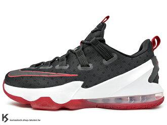 [29cm] 2016 NBA 賽季最新款 LeBRON JAMES 最新代言 NIKE LEBRON 13 XIII LOW EP BRED 黑紅 襪套式鞋面 動態支撐科技 HEXAGONAL ZO..