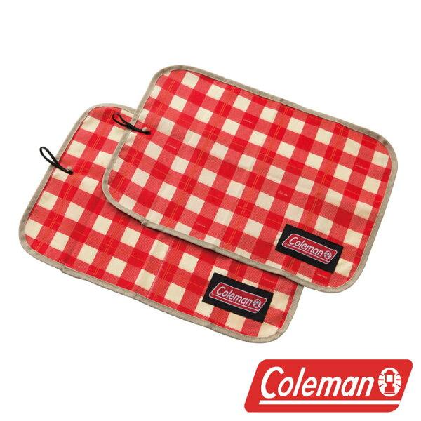 【美國Coleman】午餐墊紅格紋CM-26880野餐墊桌墊桌巾戶外露營野營野餐