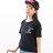圓領T--休閒舒適可愛字母眨眼趣味印花寬鬆修飾圓領短袖T恤(黑.綠XL-5L)-T307眼圈熊中大尺碼 1