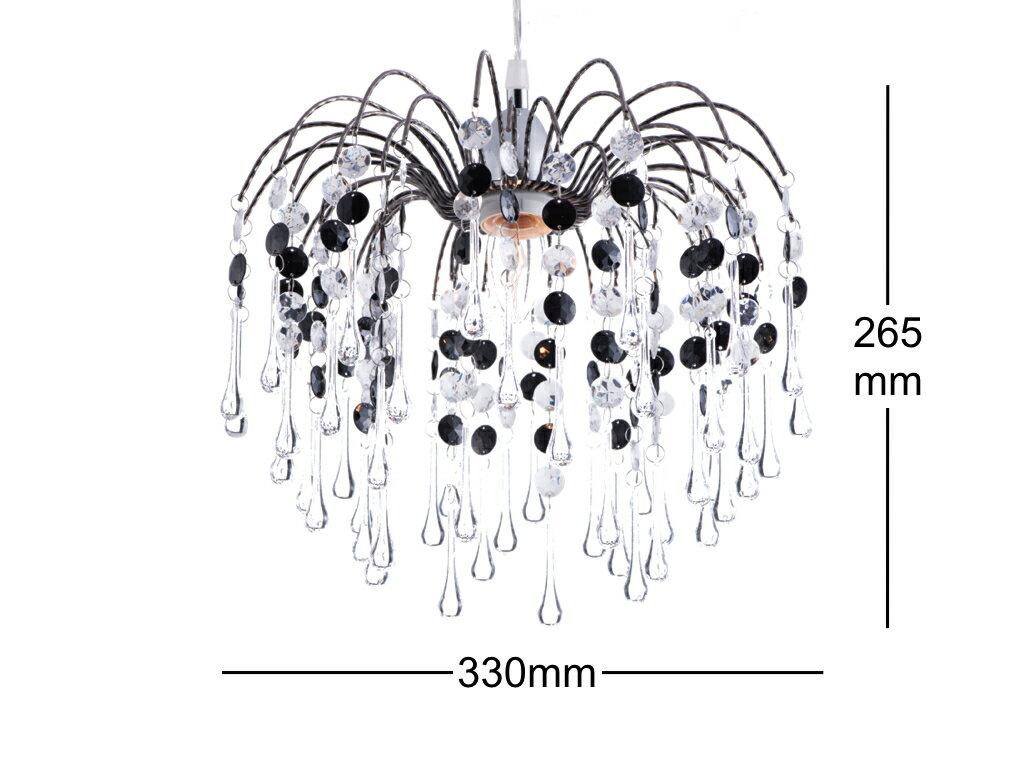 鍍鉻噴泉支架黑色壓克力珠吊燈-BNL00042 2