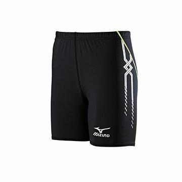 U2TB7G0609(黑X綠)適合運動時穿著,活動自如的 MC LINE 男短型運動緊身褲【美津濃MIZUNO】