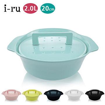 [買一送一]日本南部鐵器i-ru琺瑯鑄鐵鍋20cm(2.0L) /贈日本iwatani岩谷鑄鐵牛排烤盤 0