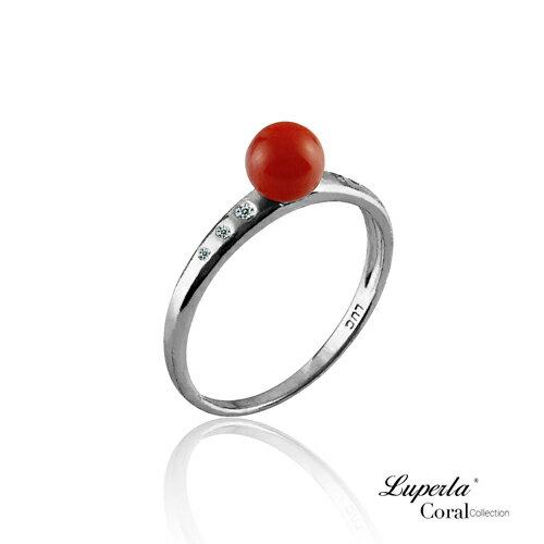 大東山珠寶 luperla:大東山珠寶富貴連年全紅珊瑚純銀戒指
