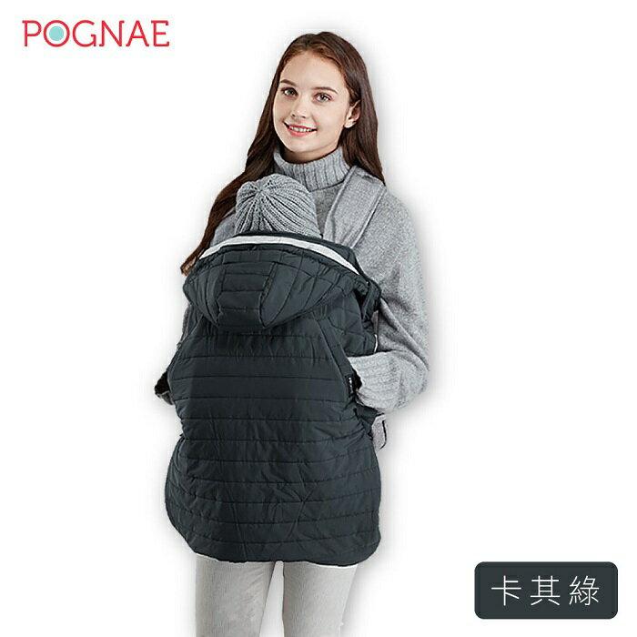 韓國【Pognae】防風保暖袍-卡其綠
