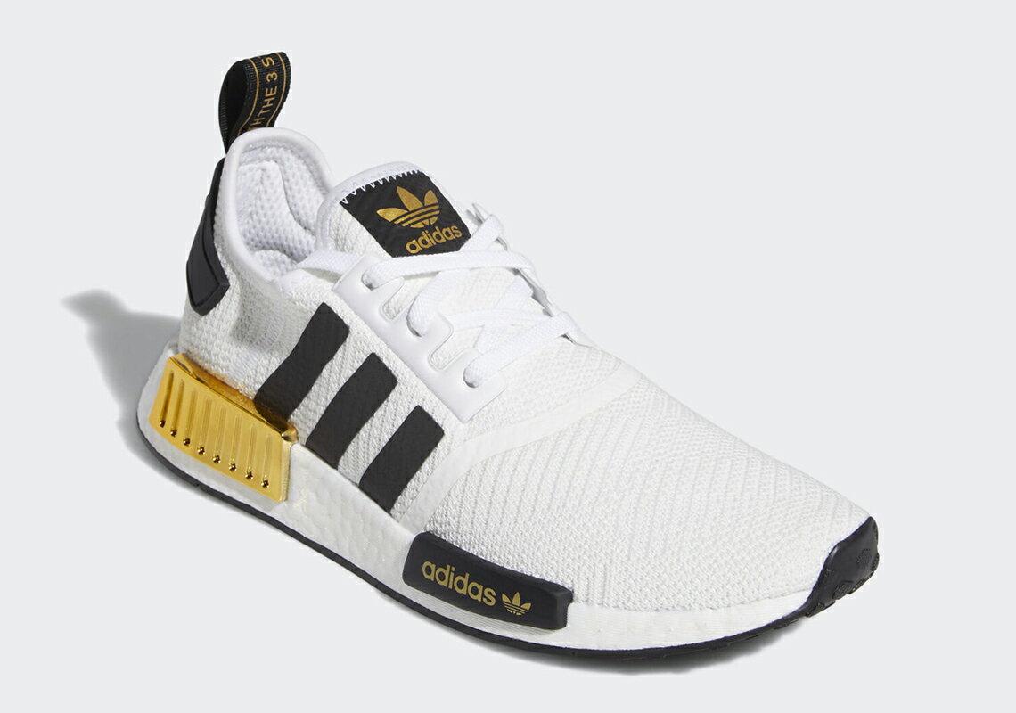 【ADIDAS】NMD R1 白黑金 BOOST 休閒 運動 慢跑鞋 男款 EG5662(palace store) 1