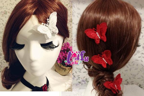 草魚妹:★草魚妹★k178新娘頭飾蝴蝶結髮夾髮飾,一個售價98元