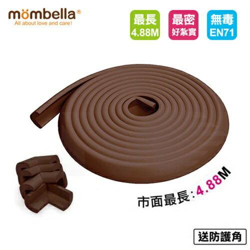 【送防撞角x4】【mombella】超長Q彈防撞保護膠條(咖啡) 0