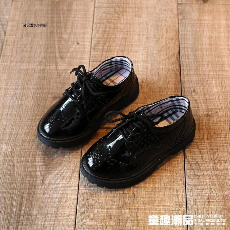 2020春季新款男童皮鞋童鞋英倫休閒單鞋學生演出鞋黑色兒童皮鞋潮