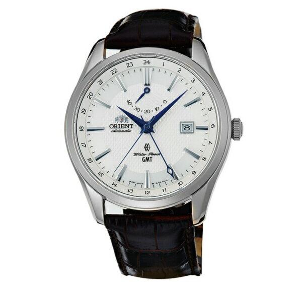 Orient 東方錶(SDJ05003W)GMT動力顯示機械腕錶/白面42mm