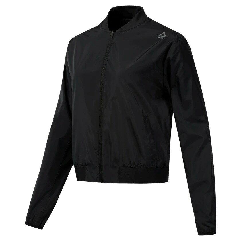 REEBOK WOR WOVEN JACKET 女裝 外套 短版 飛行外套 休閒 舒適 透氣 黑【運動世界】DU4730