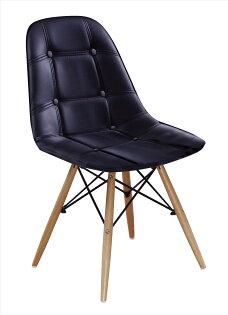 【石川家居】JF-488-14迪妮黑皮餐椅(單只)(不含其他商品)台北到高雄搭配車趟免運