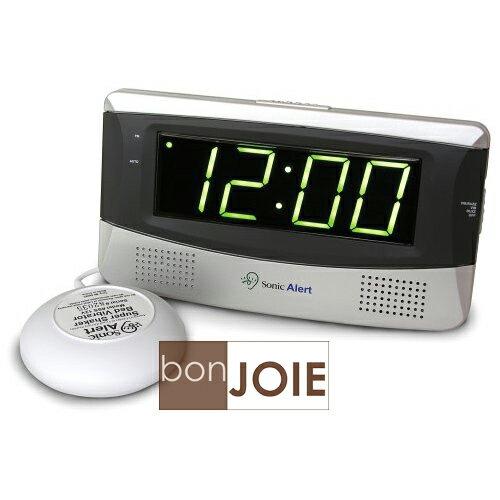 ::bonJOIE:: 美國進口 Sonic Alert SB300SS 震動鬧鐘 (含振動器)(全新盒裝) Bomb Boom 音波炸彈 鬧鈴 靜音 提醒器
