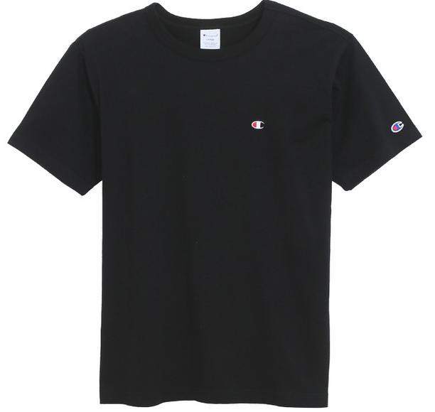 日本超人氣Champion熱賣中--CHAMPION 刺繡小logo素面T恤(黑色)