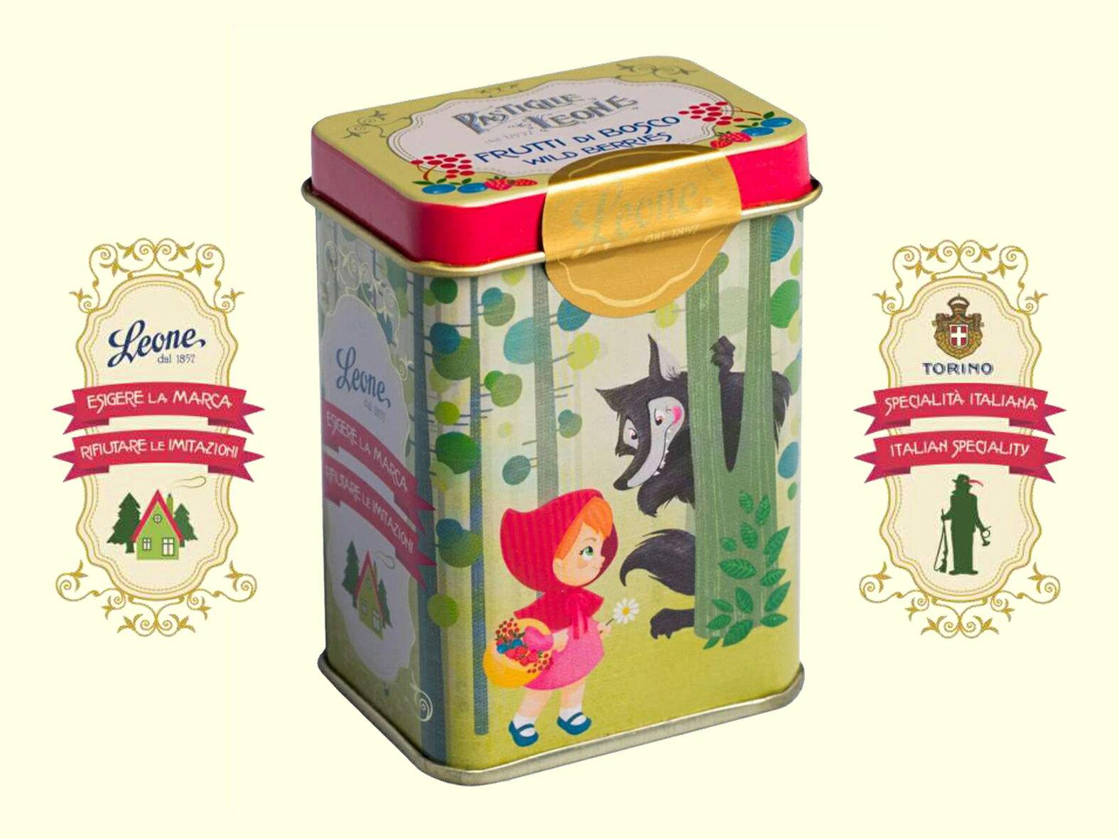 【PASTIGLIE LEONE里歐雷糖果】童話系列鐵罐★小紅帽~綜合莓果★ - 限時優惠好康折扣