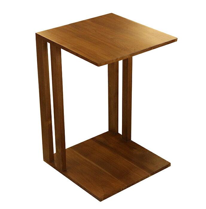 【尚品傢俱】640-42 柚木ㄇ型小邊几/小邊桌/小茶桌/寫字桌/小方几/飲料桌/置物桌/側邊几/桌旁小几