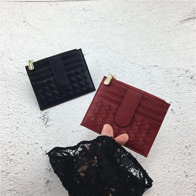 零錢包 卡包女超薄小巧拉鏈零錢袋復古多卡位證件卡套ins韓新款簡約卡夾 清涼一夏钜惠