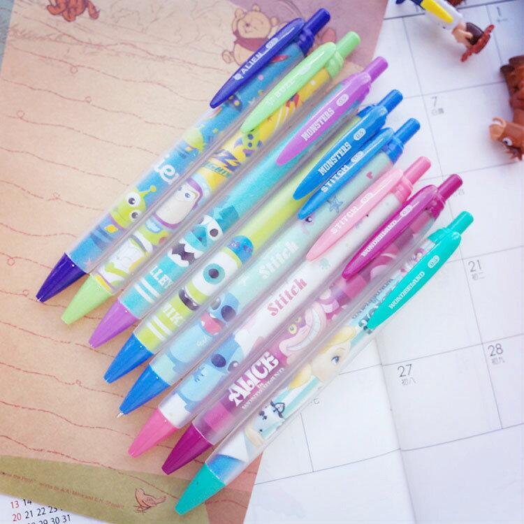 PGS7 迪士尼系列商品 - 韓國 迪士尼 自動 鉛筆 自動筆 史迪奇 三眼怪 愛麗絲 毛怪【SHE61228】