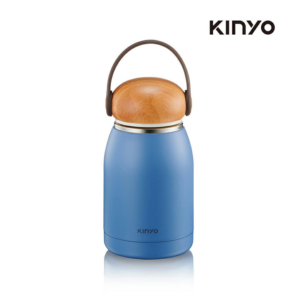 kinyo 不鏽鋼隨行保溫杯320ML-藍KIM-31BU-生活工場
