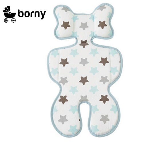 韓國【 Borny 】3D 立體推車涼墊(推車、汽座適用)  (蜜糖藍) - 限時優惠好康折扣