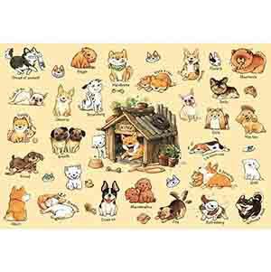 狗狗的100種  作者:afu  300P拼圖