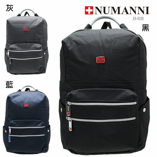 76-603【NUMANNI 奴曼尼】特務流線型功能性電腦後背包 (三色)