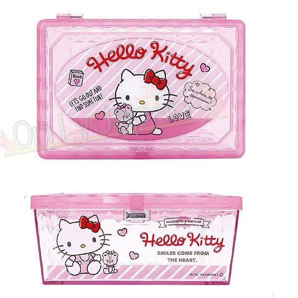 【真愛 】18122200027 收納盒-KT小熊粉 凱蒂貓 kitty 飾品盒 收納盒 置物盒
