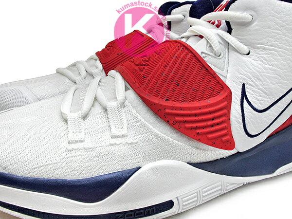2020 Kyrie Irving 最新代言鞋款 NIKE KYRIE 6 VI EP TEM USA 白深藍紅 美國隊 奧運 前掌 ZOOM TURBO AIR 氣墊 (BQ4631-102) 0820 2