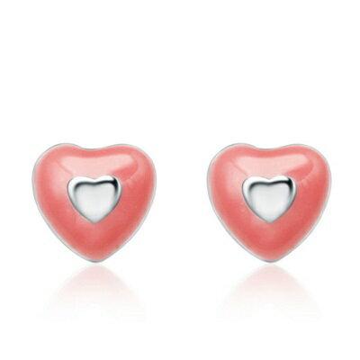 ~925純銀耳環 耳針式耳飾~大方可愛 七夕情人節生日 女飾品73al91~ ~~米蘭 ~