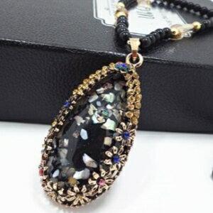 美麗大街【GX477】 復古女王貝殼誇張百搭韓國飾品配飾毛衣鏈 歐美復古項鍊