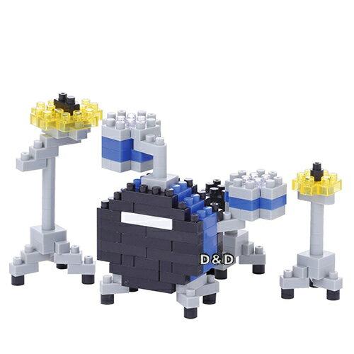 《 Nano Block 迷你積木 》NBC-172 藍色爵士鼓