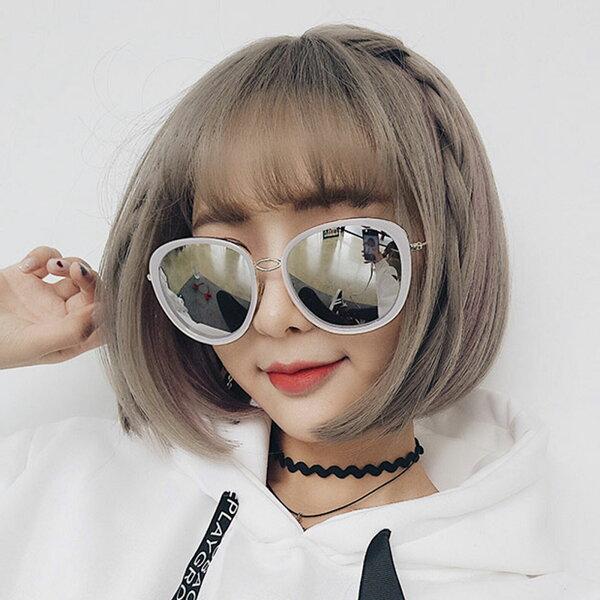 雙兒網:太陽眼鏡網紅明星同款復古大框修臉墨鏡【O3308】☆雙兒網