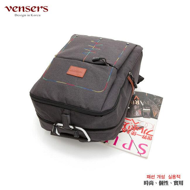 【vensers】簡約丹寧牛仔後背包(R00066301黑色) 2
