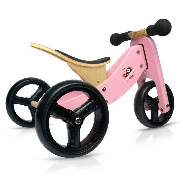 美國【Kinderfeets】木製平衡滑步車/教具車-初心者三輪系列(4色) 2