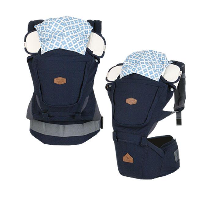【促銷】i-angel RAINBOW 彩虹系列 座椅式背帶-海軍藍色(總代理公司貨)
