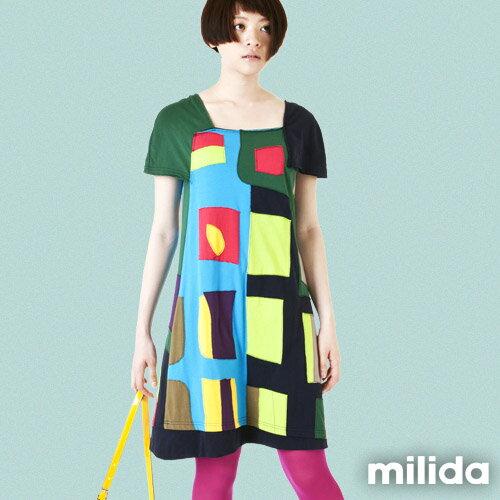 【Milida,全店七折免運】不對稱袖子設計洋裝 4