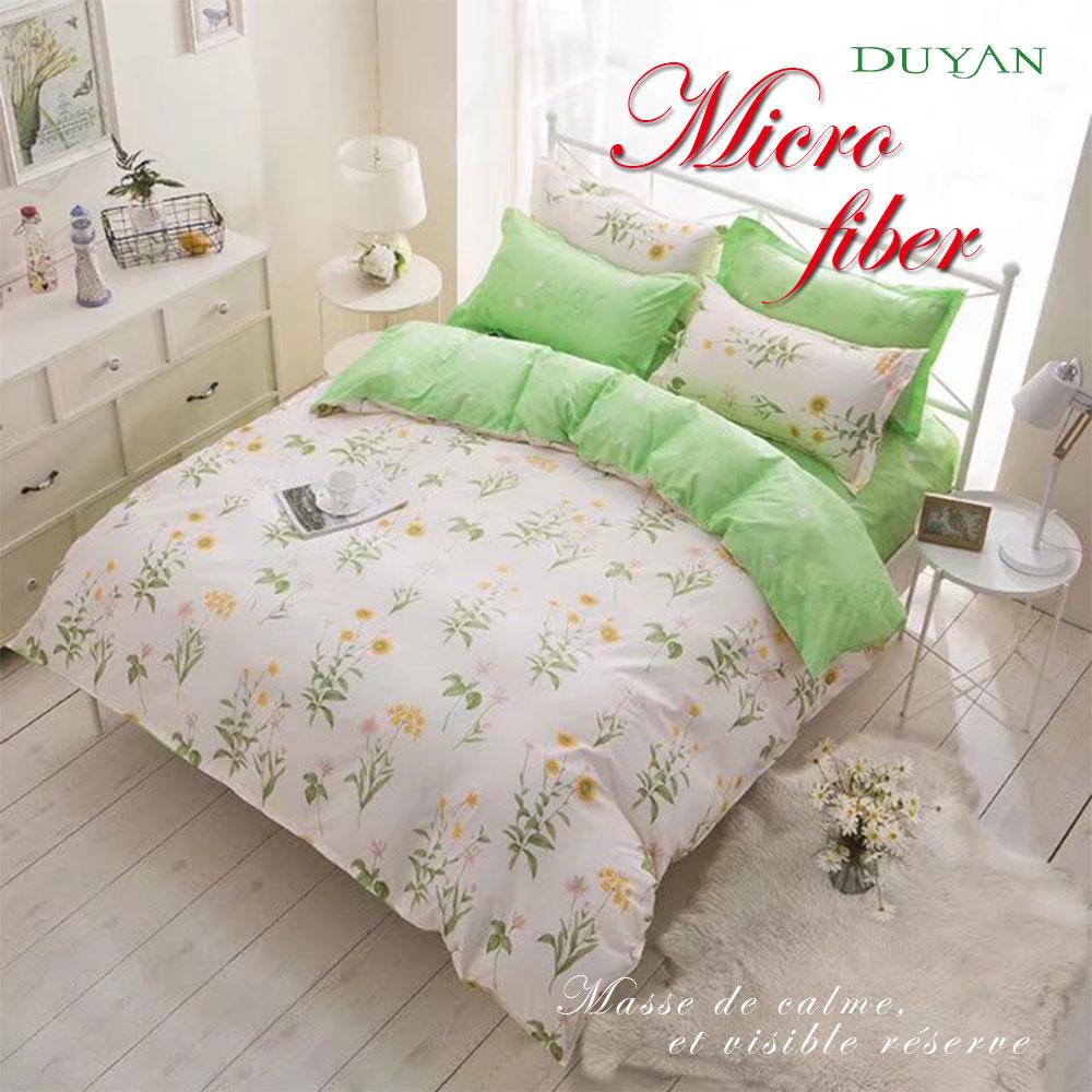 《DUYAN 竹漾》天絲絨單人/雙人/加大兩用被床包組【小清新花園】 台灣製 單人 雙人 加大 床包 鋪棉兩用被