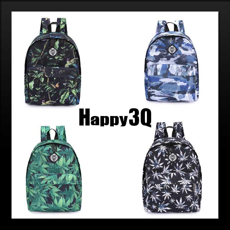 原宿風帆布包雙肩包單肩包手提包筆電包後背包-黑花朵/藍花朵/綠棕櫚葉/黑棕櫚葉/紅棕櫚葉/熱帶雨林/湖水藍【AAA0810】