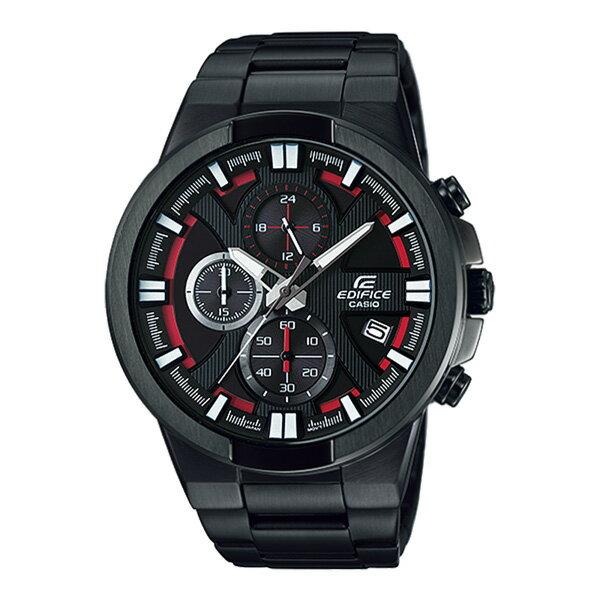 CASIO EDIFICE EFR-544BK-1A4極黑競速三環時尚腕錶/黑面48mm
