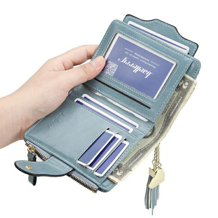 摺疊錢包女短款2019新款時尚精致簡約軟皮夾性冷淡大氣駕駛證卡包