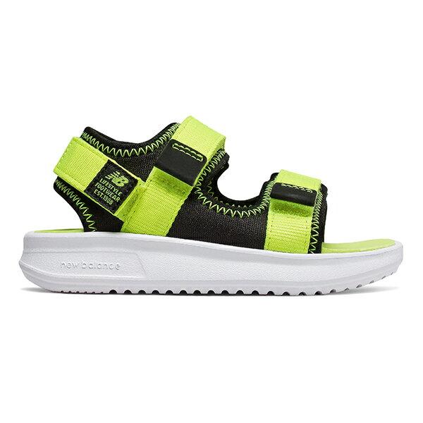 鞋殿 【IH750BL】NEW BALANCE NB750 涼鞋 涼拖鞋 運動涼鞋 童鞋 小童鞋 黏帶 螢光黃黑