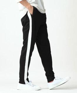 運動束口褲BLACK×WHITE單線