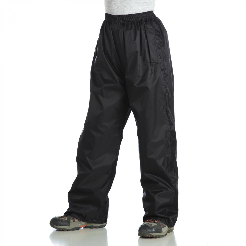 Regatta 兒童防水透氣雨褲/小朋友登山雨褲 黑 RKW110