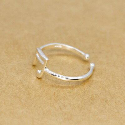 ~925純銀戒指開口戒~年輕俏麗簡單率性七夕情人節 女飾品73dt280~ ~~米蘭 ~