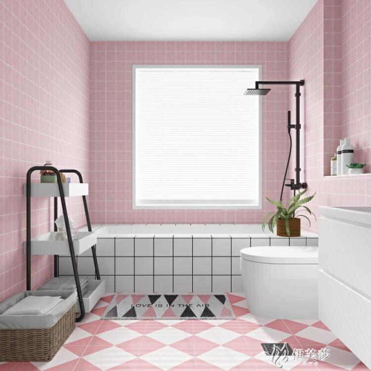 新品上市 限時優惠廁所防滑地貼防水耐磨衛生間浴室自粘墻紙廚房地板地面翻新貼