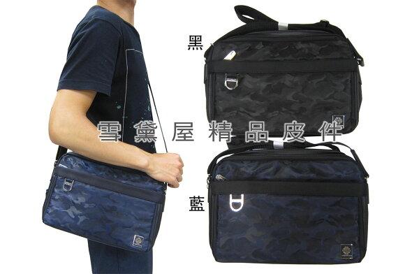 ~雪黛屋~SPYWALK斜側包肩背包中容量二層拉鍊主袋可8吋平板防水尼龍布材質可肩背斜側背014-S1704